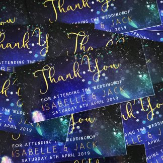 Milky Way Thank You Favour Cards