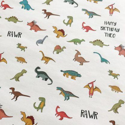 Dinosaur Gift Wrap