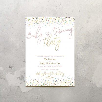 30th invitations