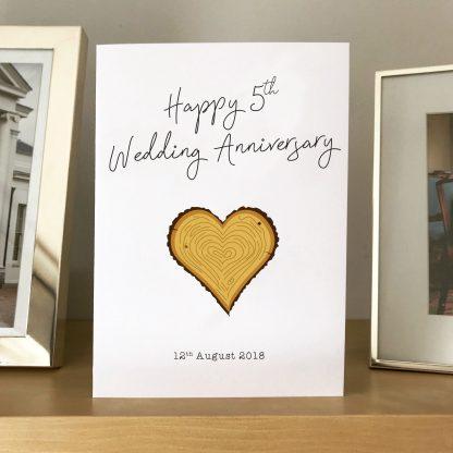 5th anniversary card