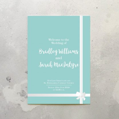 Tiffany Order of Service booklets