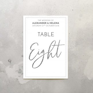 chandelier table sign