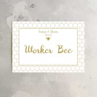 honey bee table sign