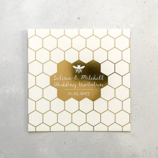 Honey Bee Foiled Invite