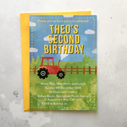 second birthday party invite