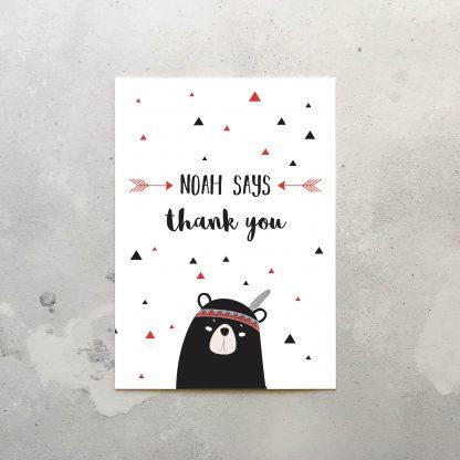 Little Adventurer Thank You Cards