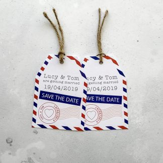 airmail luggage tags