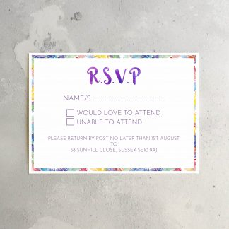 Feathers rsvp card
