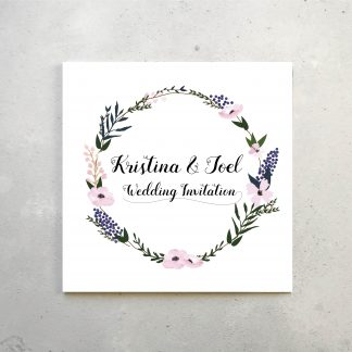 Floral Invitation front