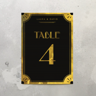Gatsby Table signs