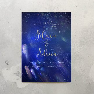 Milky way Order of service cover