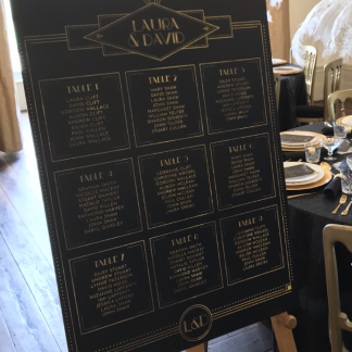 Gatsby table plan