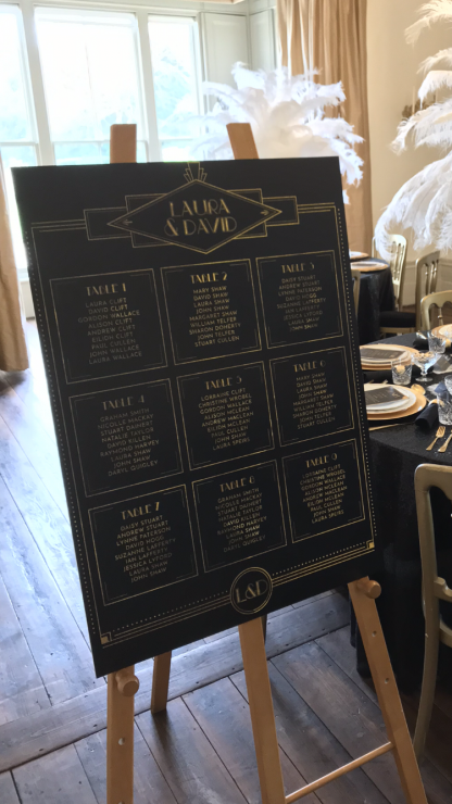 Gatsby table plan