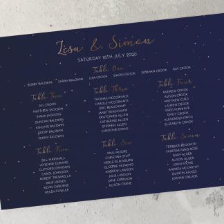 Starry Night Table Plan