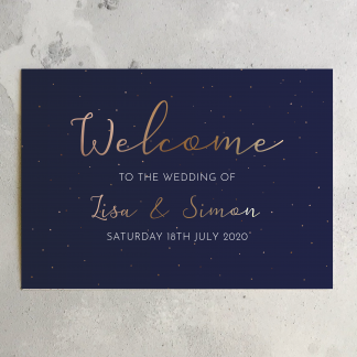 starry night welcome sign