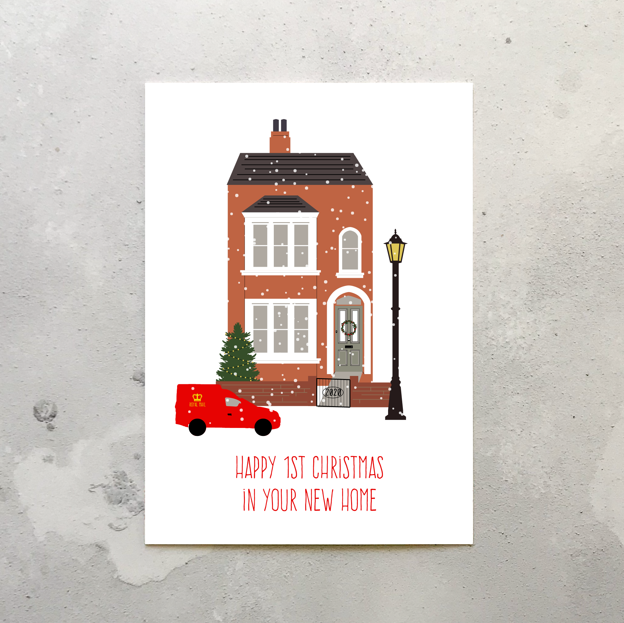 5st Christmas in New Home Charity Christmas Card