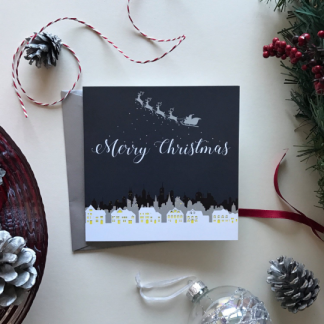 Christmas Skyline Card