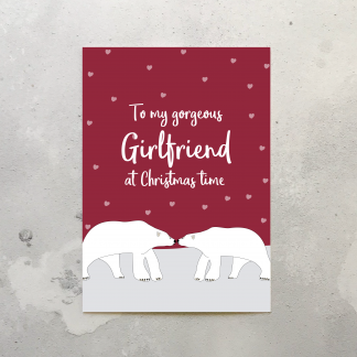 Girlfriend Polar Bear Christmas Card