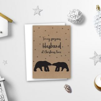 Polar Bear Husband Xmas Card