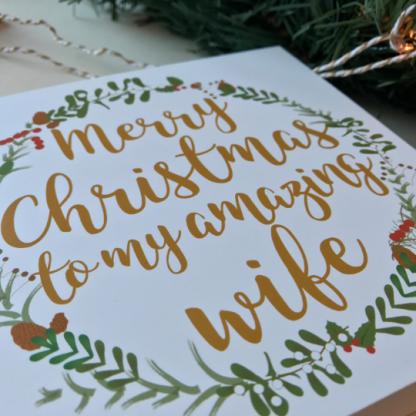 Wife Christmas card