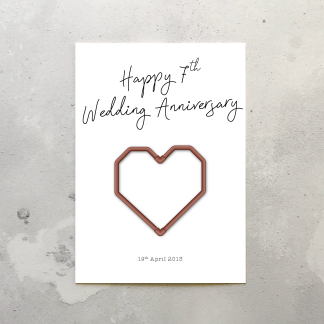 7th wedding anniversary card