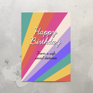 Lockdown birthday card