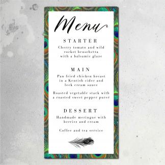 Peacock menu