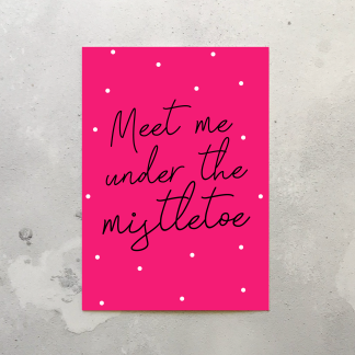 Under the Mistletoe card