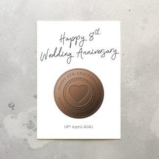 8th anniversary card